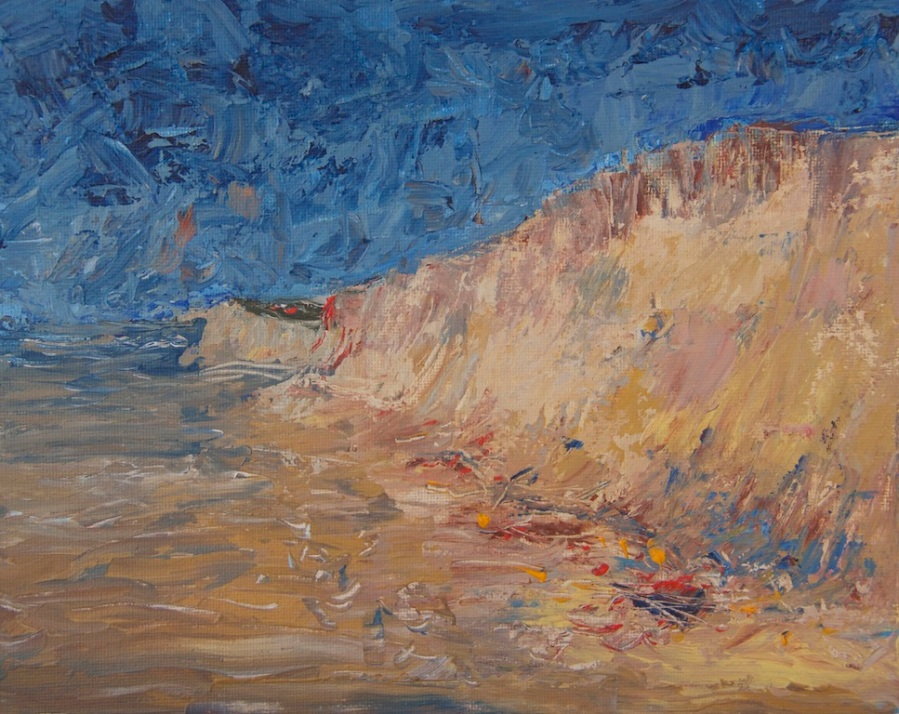 Dune Damage, Palette knife study IMG_6697
