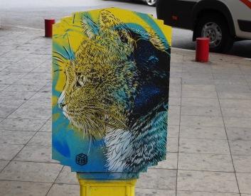 Grafitti postbox in Rabat