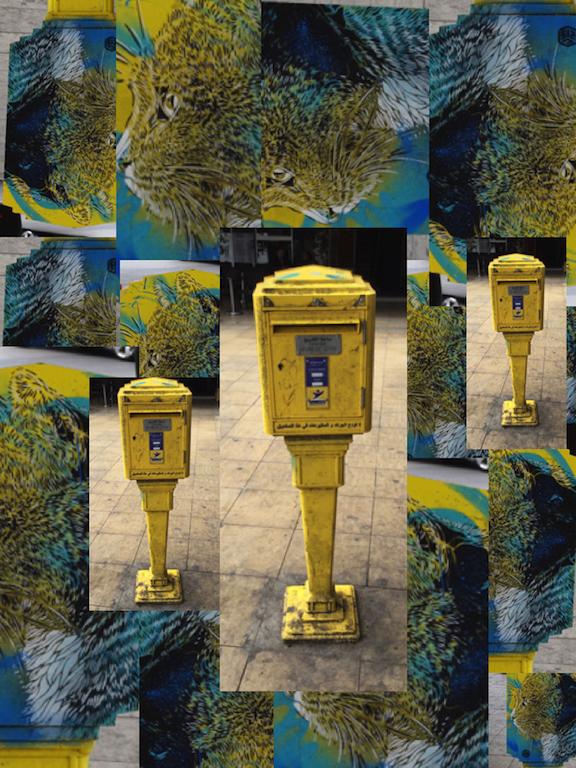 Rabat post box mosaic