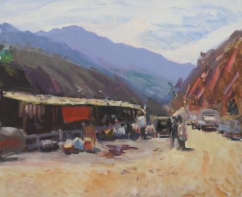 Bhutan roadside market