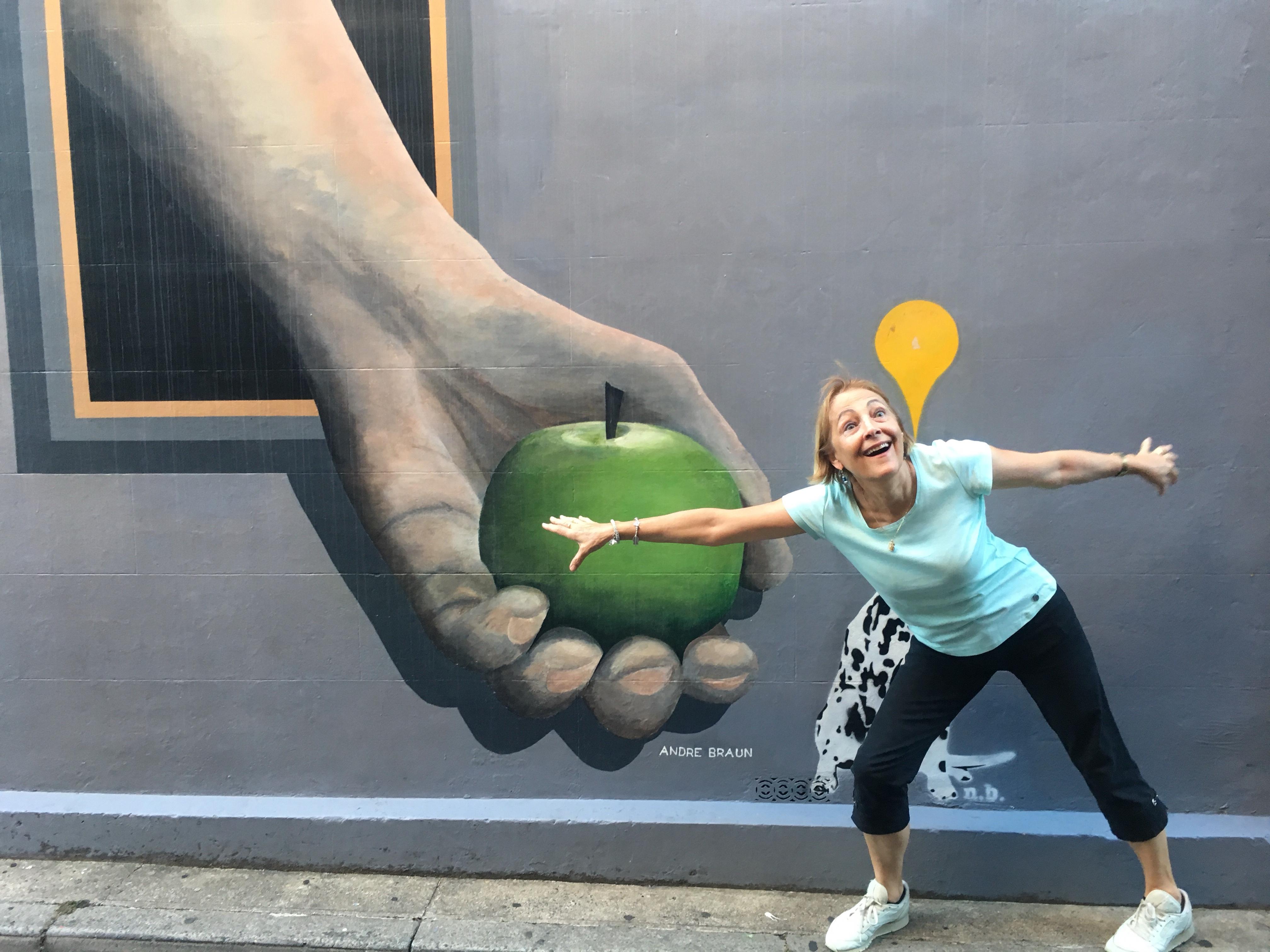 Fun street art in Paddington Sydney
