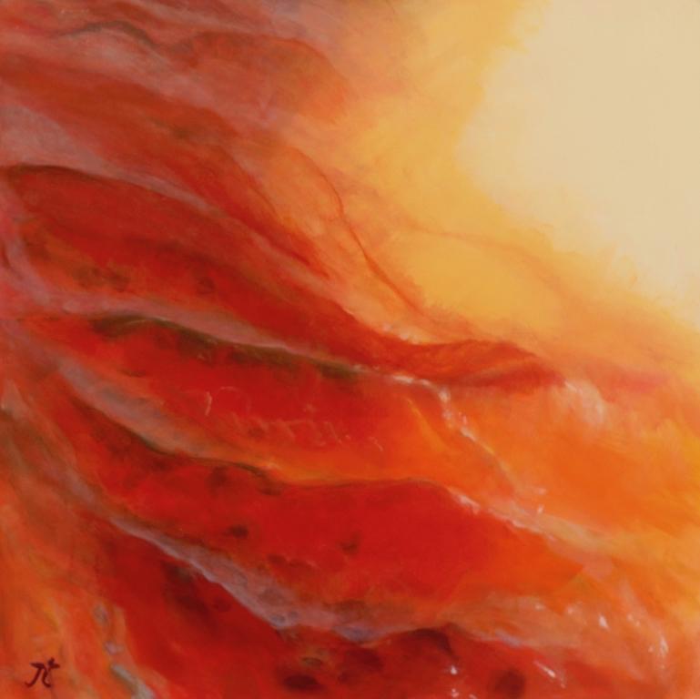 Ripple, acrylic on canvas, 61x61cm