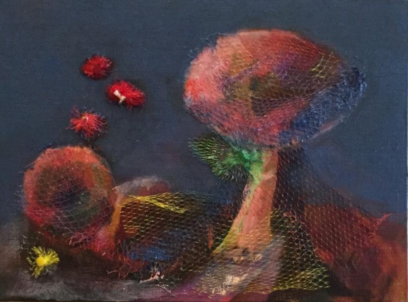 Mushroom with netting