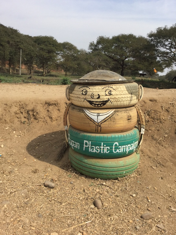 Bagan tyre rubbish bin