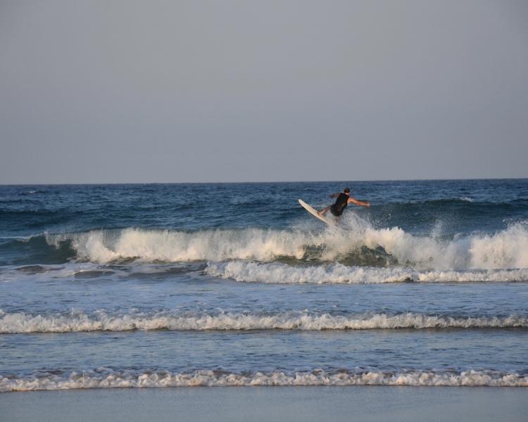 Surfer at Marcus Beach